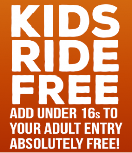 Kids Ride Free - Add under 16s to your adult entry for free!